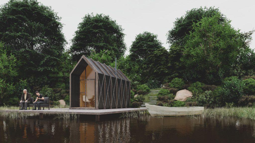mini casas de madera